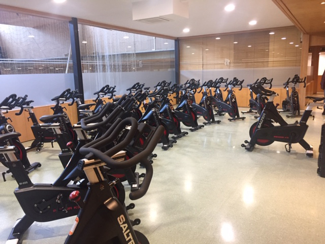 Sala d'indoor cycling